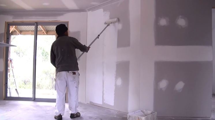 finitura parete in cartongesso