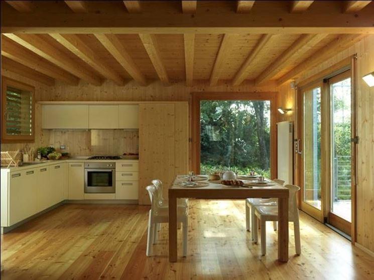 Finiture in legno per interni pareti finiture in legno - Case prefabbricate interni ...