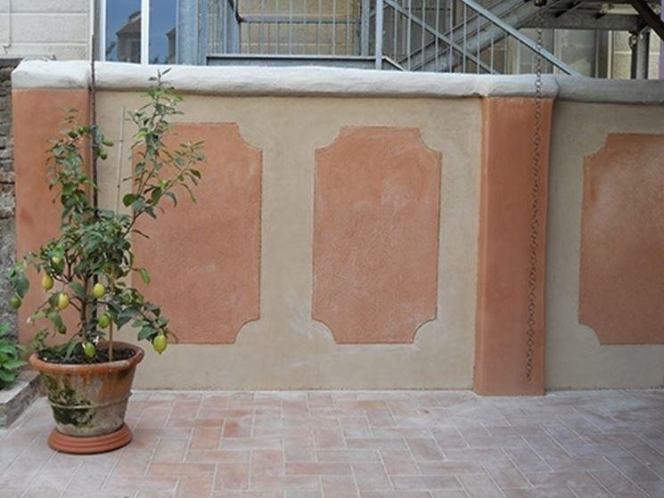 muro esterno con cocciopesto