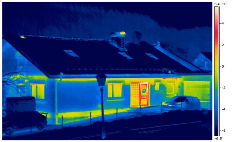 termografia di una casa per scoprire dispersione termica