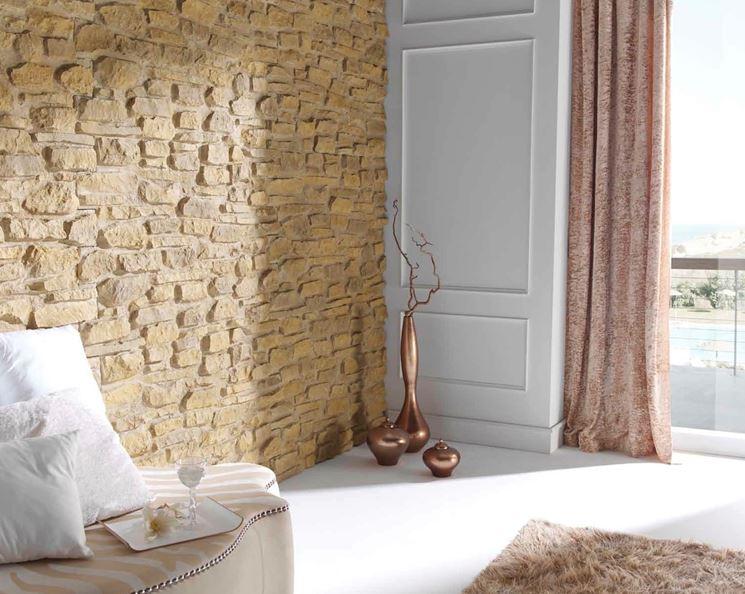 Parete finta pietra pareti realizzare parete in finta for Pannelli polistirolo finta pietra mattoni