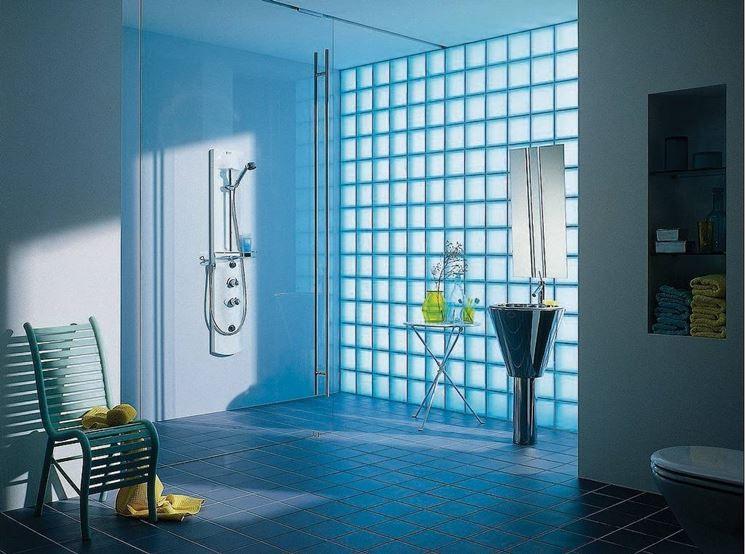 Parete vetrocemento e cartongesso - Pareti - Realizzare pareti in vetrocemento e cartongesso