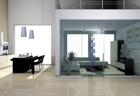 pareti in vetro per interni - Pareti