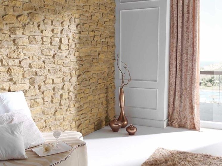 una parete con la pietra - Pareti - come rinnovare una parete ...