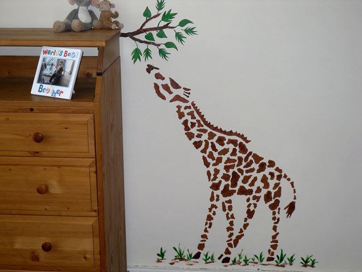 Stencil muro bambini
