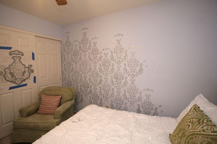 Stencil muro pareti - Stencil camera da letto ...