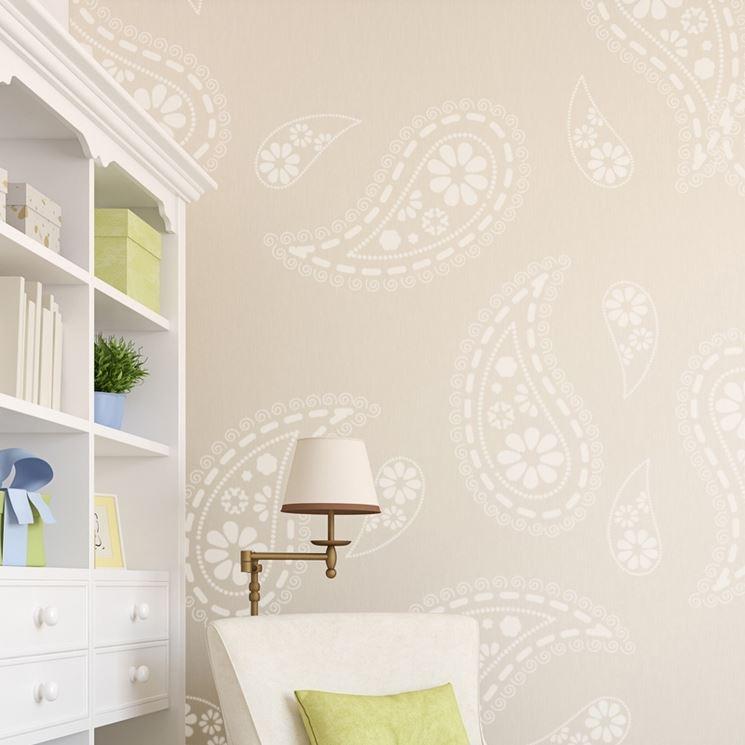 stencil per pareti pareti come fare stencil su pareti