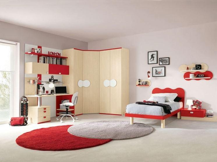 Camera Da Letto E Studio : Zona studio in camera una parete multifunzione pareti