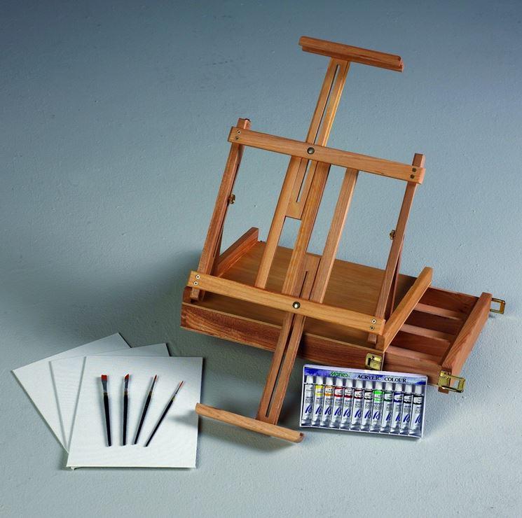 Mini cavalletto per pittura da tavolo