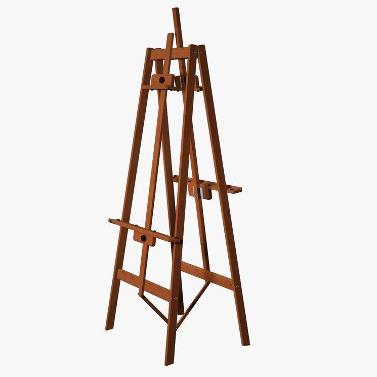 Cavalletto per dipingere in legno