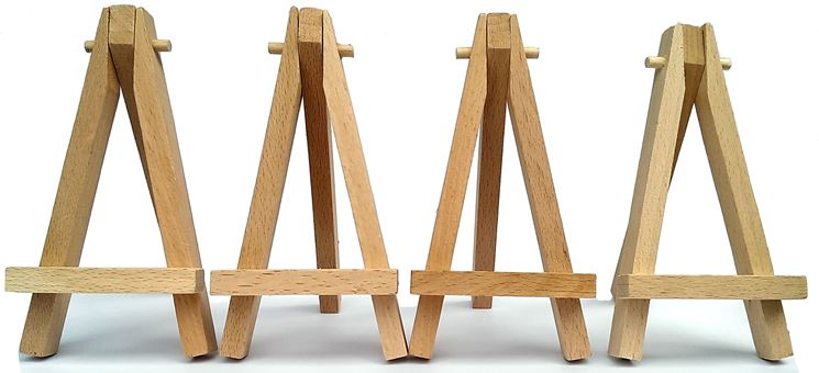 Set di cavalletti in legno