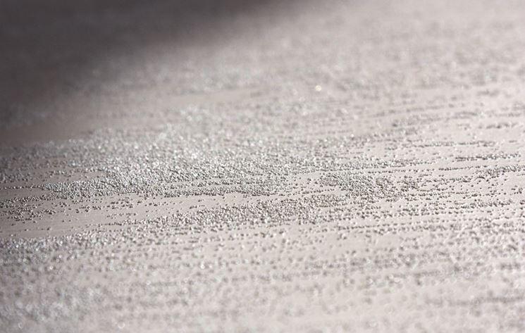 Pareti effetto sabbia pitturare come realizzare l for Pareti bianco perla