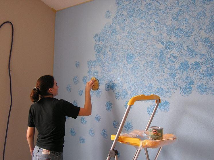 Pareti effetto spugnato - Pitturare - Dipingere pareti con effetto ...
