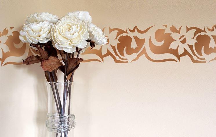 Stencil fiori stilizzato