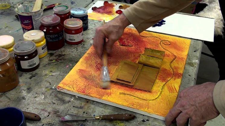 pitturare su tela