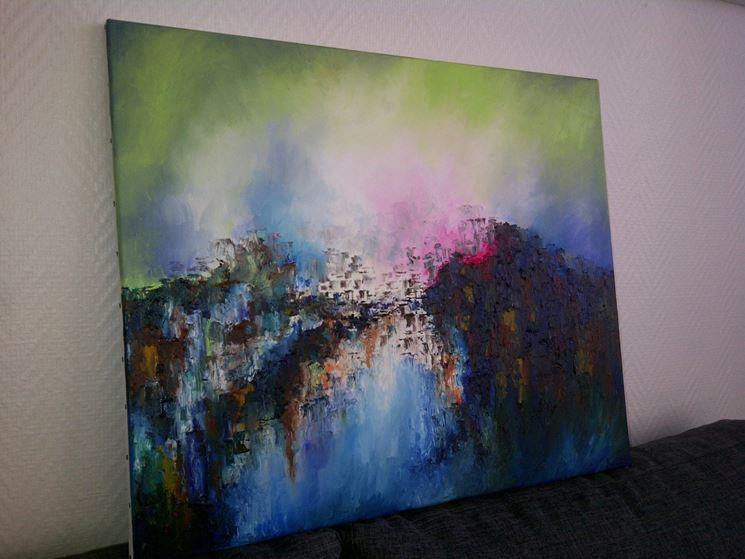 dipinto su tela di cotone
