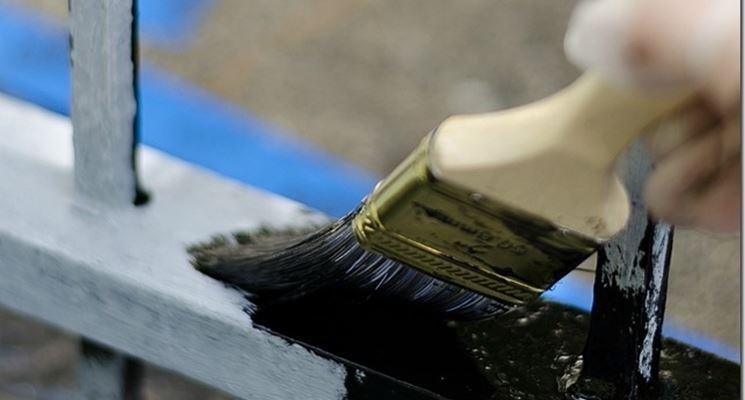 verniciatura ringhiera di ferro