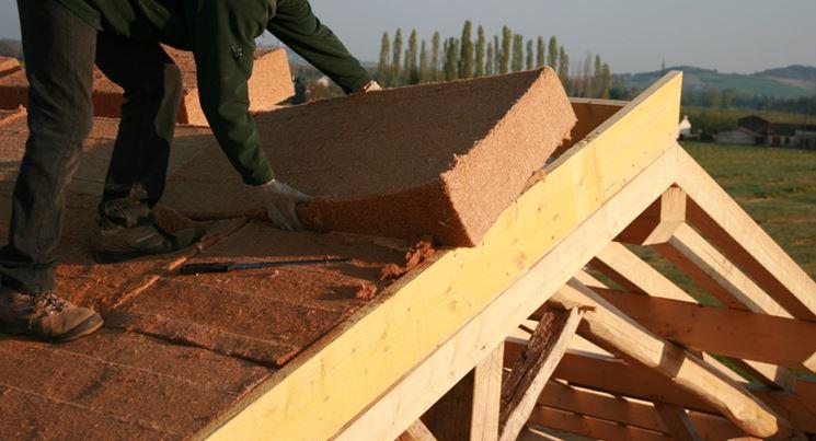 Fase coibentazione tetto