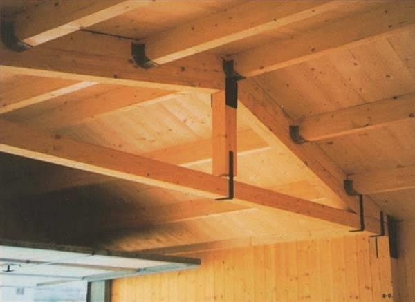 Controsoffitto In Legno Lamellare : Box garage in pannelli sandwich finto legno effetto perlina