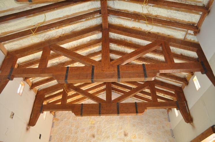 travi in legno per tetto