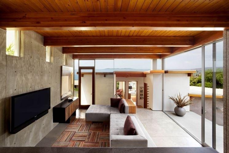 Lampadari per tetto in legno good salotto cartongesso idee per il