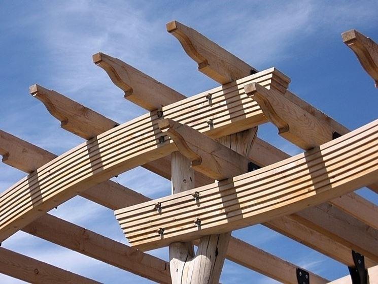 Travi in legno lamellare travi caratteristiche delle for Costo delle travi a vista