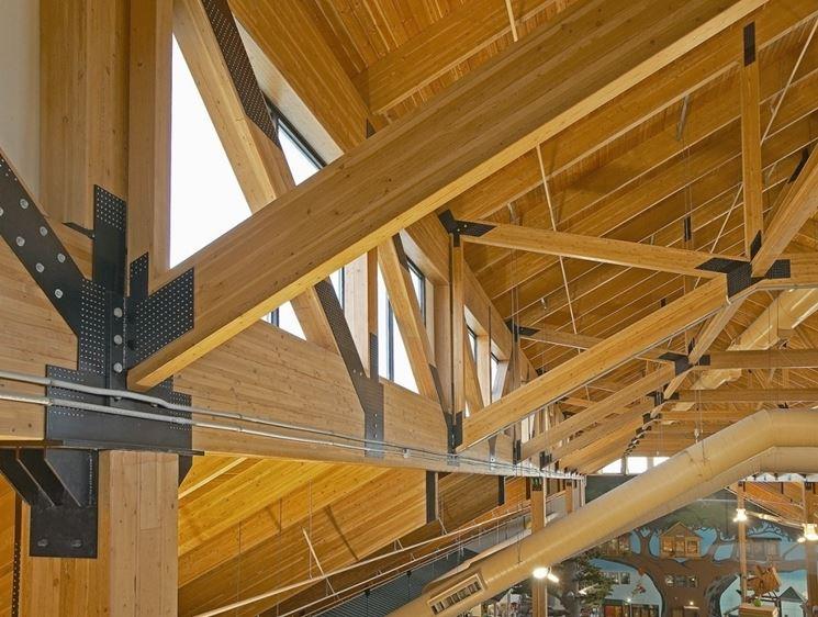copertura con legno lamellare