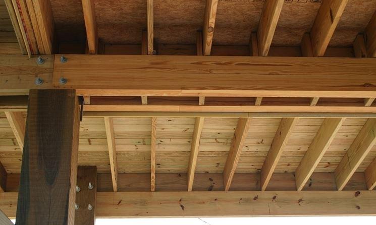 Soffitto In Legno Lamellare : Travi in legno lamellare travi caratteristiche delle travi in