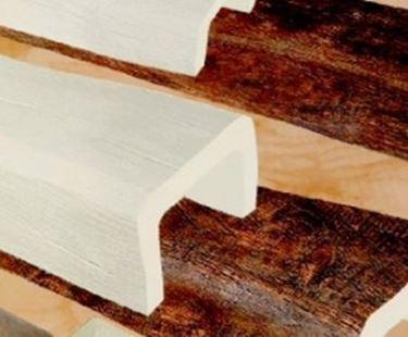 Travi in polistirolo bianche for Polistirolo finto legno