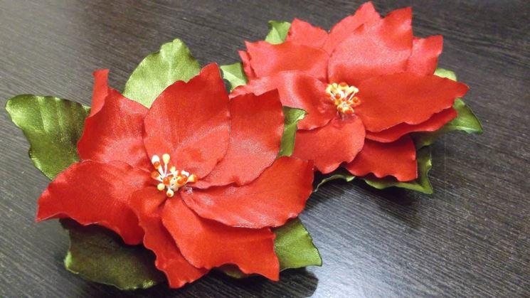 fiori di Stella di Natale in stoffa