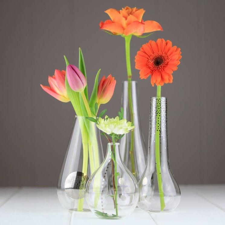 Fiori vasi vetro