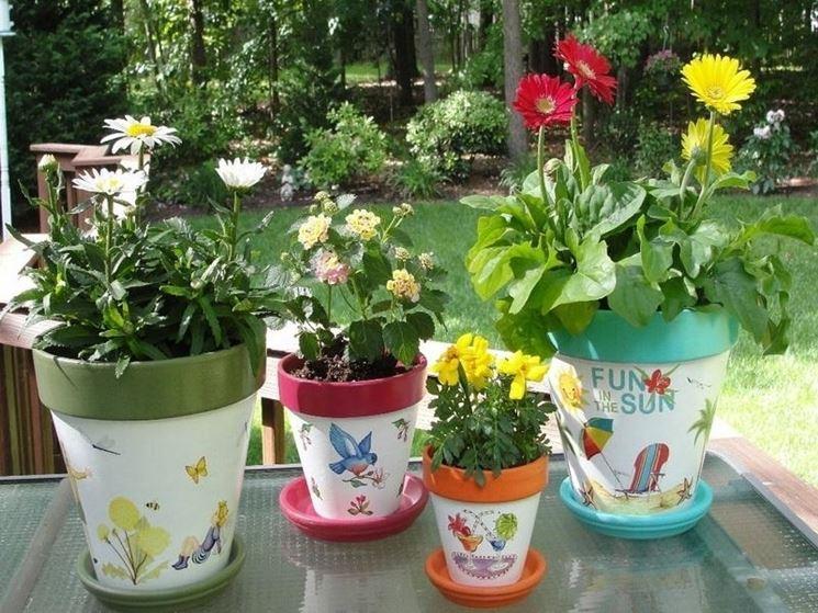stampe per decorare vasi