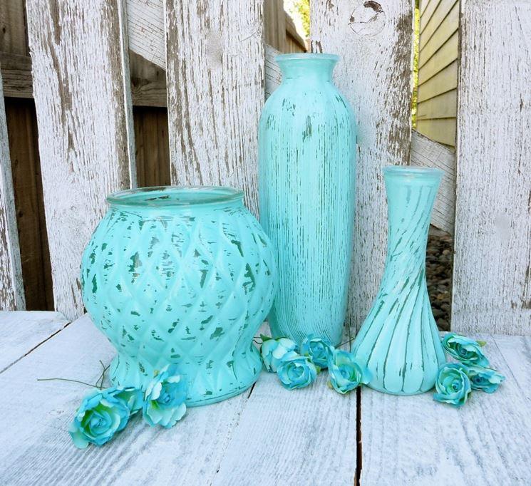 vasi di vetro colorati