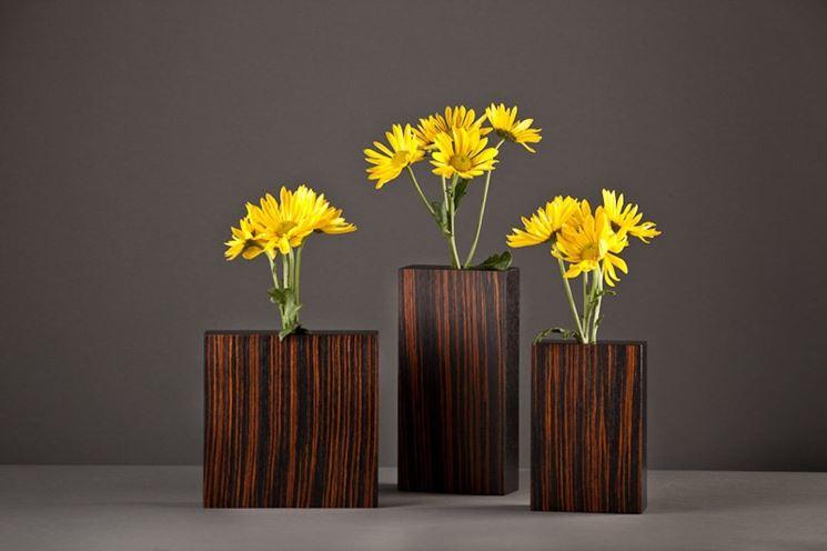 Vasi legno decorati