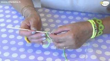 bracciale con filo di cotone e catena fai da te