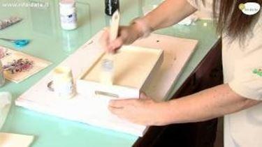decorare un vassoio con il decoupage