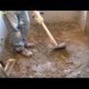 Pavimento in cemento posa,livellamento